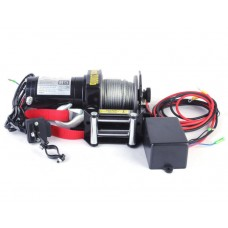 Лебедка электрическая для ATV квадроцикла Electric Winch 2000LBS 12V Вольт (сталь) - 907 кг