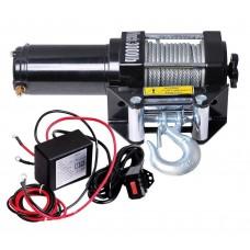 Лебедка электрическая для ATV квадроцикла Electric Winch 3000LBS 12V Вольт (металл) - 1360 кг