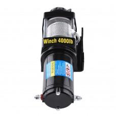 Лебедка электрическая для ATV квадроцикла Electric Winch 4000LBS 12V Вольт (сталь) - 1820 кг